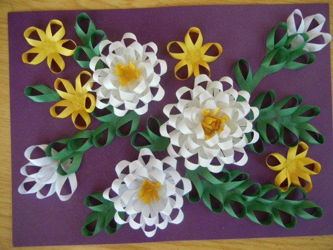 Цветы из цветной бумаги своими руками объемные 2