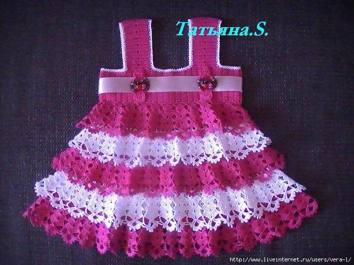 Вязание детского платья сарафаны 175