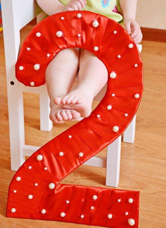Как сделать большую цифру 1 на день рождения своими руками