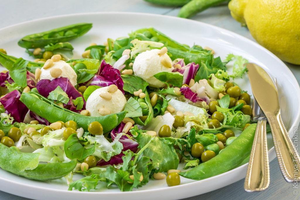 Салаты с зелёным горошком рецепты с простые и вкусные