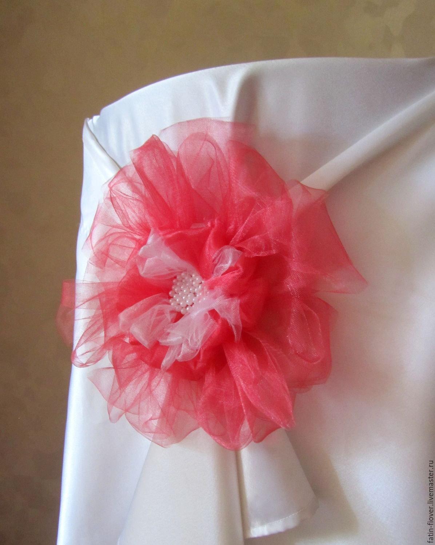 Свадебные украшения из фатина фото