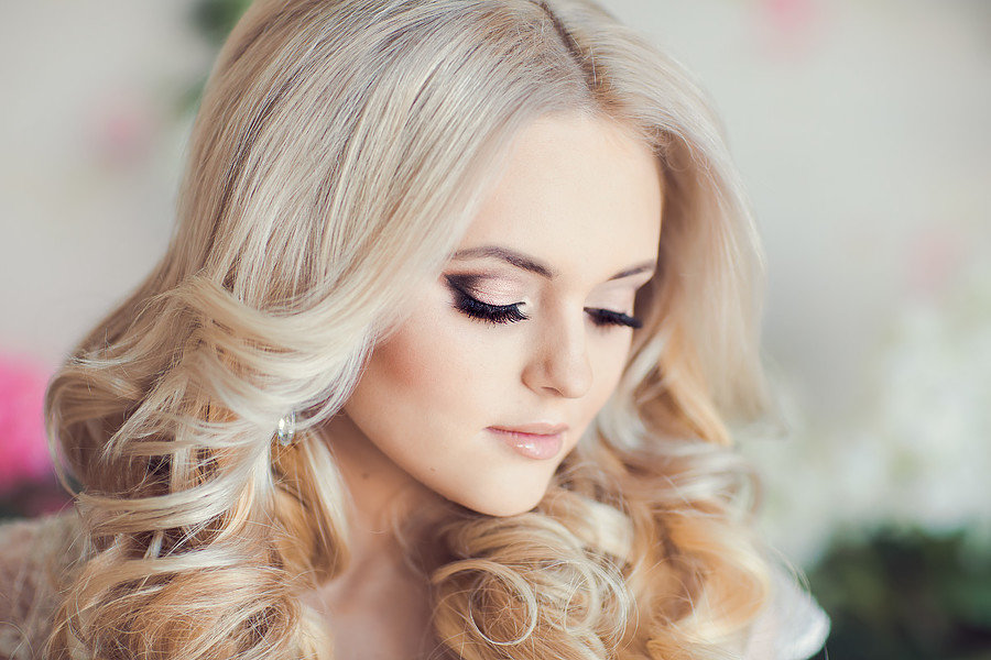 Свадебный макияж для блондинок с фото
