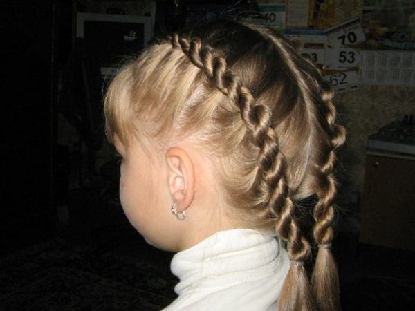 Прически косы для девочек жгутом