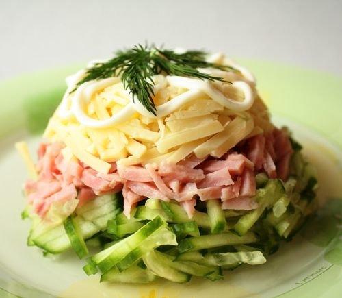 Салат из ветчины рецепт с самый вкусный