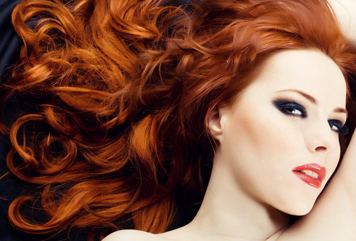 Цвета волос рыжий с темным