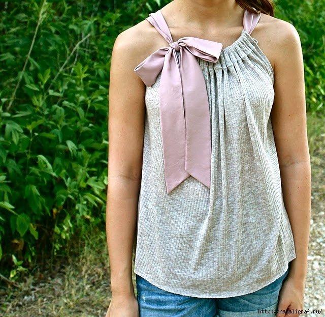 Блузка на кулиске своими руками 12