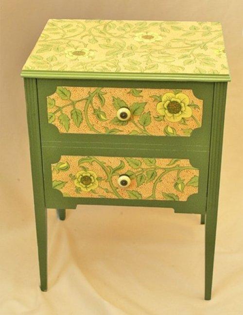 94Реставрация старой мебели в декупаж