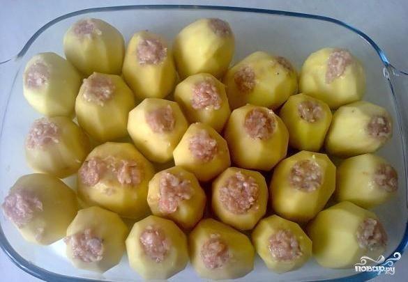 Фаршированный картофель рецепт пошагово с