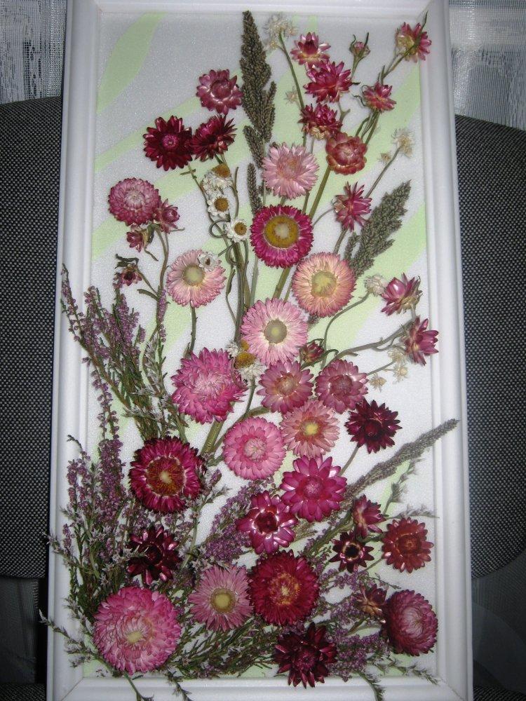 Как сделать картины из цветов сухих своими руками фото