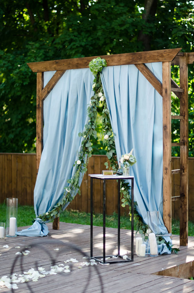 Варианты арки для свадьбы своими руками 50