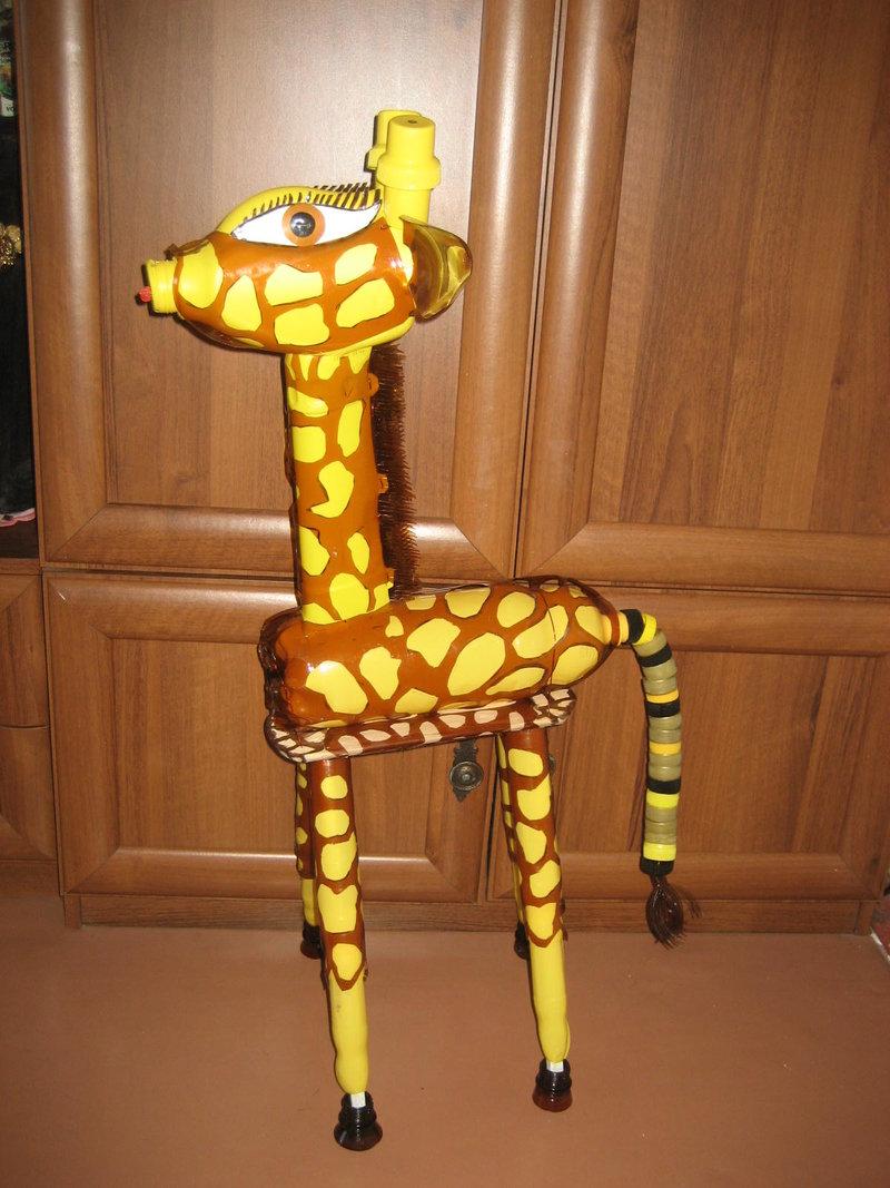 Как сделать жирафа из бутылок пластиковых своими руками