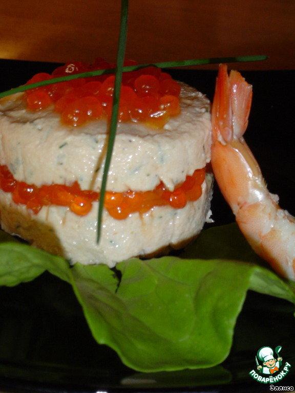 Запеченная рыба с икрой рецепт