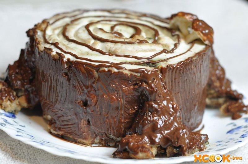 Бисквит трухлявый пень пошаговый рецепт