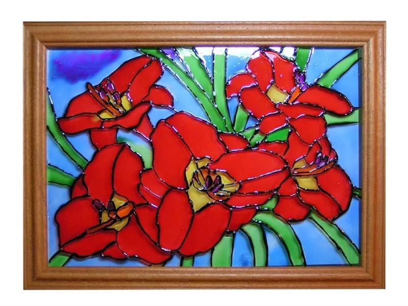 Картина рисунок на стекле