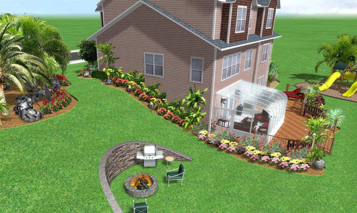 Ландшафтный дизайн участка под уклон