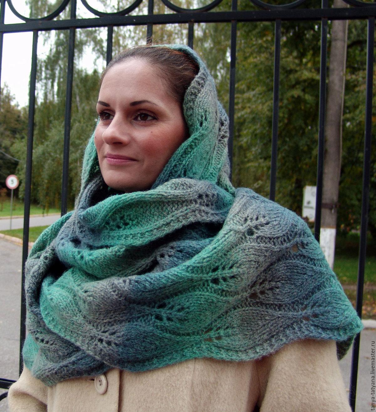 Вязание шарфов из шерсти 428