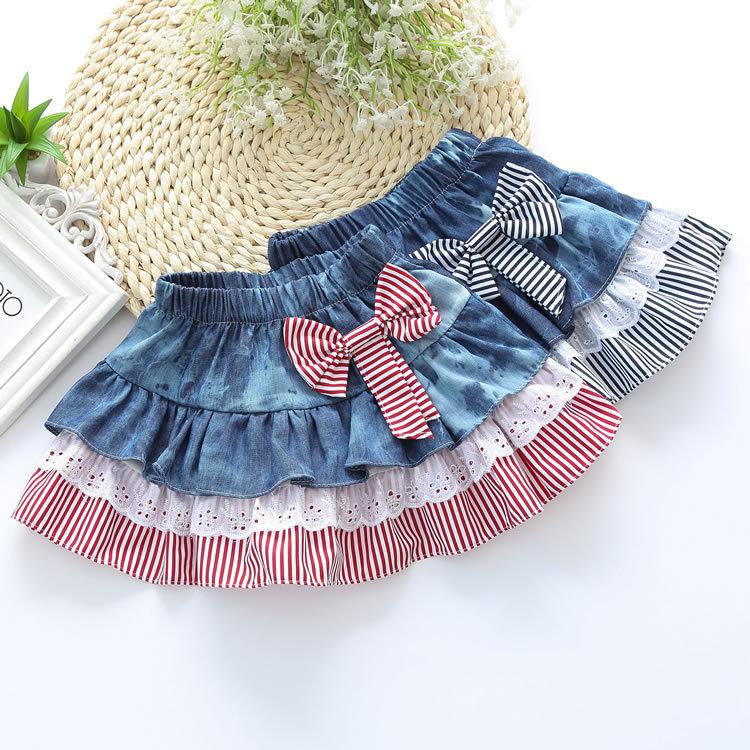 Как сшить юбку для девочки из джинса 89