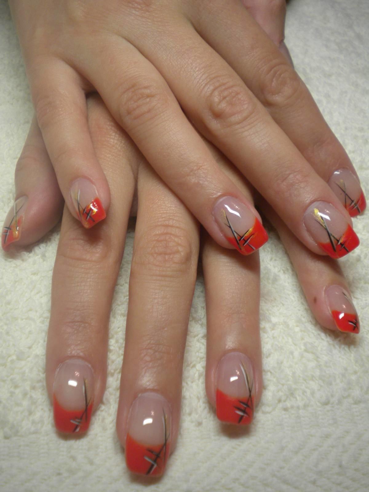 Красные френчи на ногтях фото