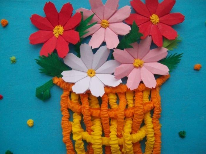 Поделка цветы в детский сад своими руками