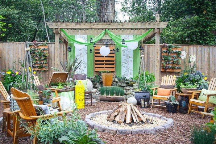 Обустроить место отдыха в саду своими руками фото