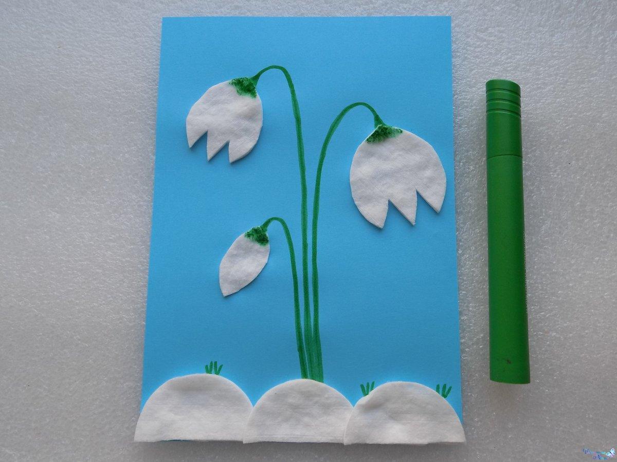 Поделки из ватных дисков и палочек с описанием цветы