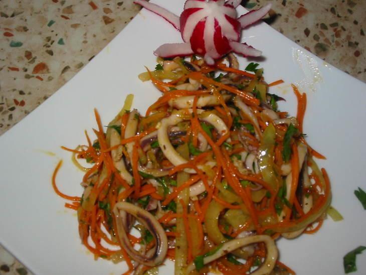 Кальмар с перцем рецепт с пошаговым
