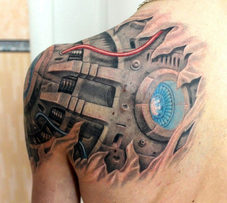 Эскизы тату биомеханика на плече фото