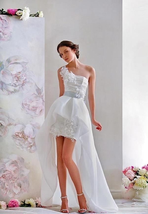 Короткие свадебные платья спереди