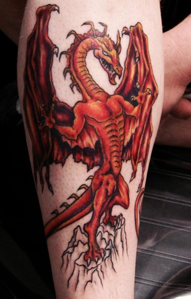 Тату драконов на руку 129
