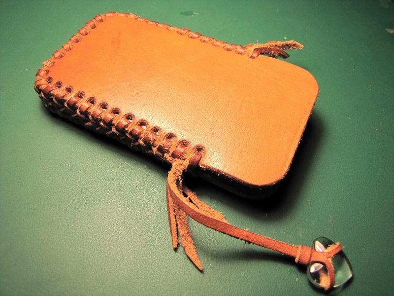 Кожаный футляр для телефона своими руками 24