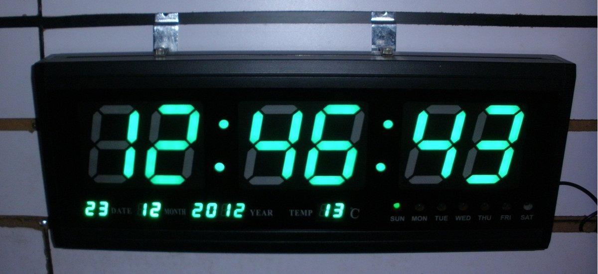 Настенные электронные часы с большими цифрами своими руками 84