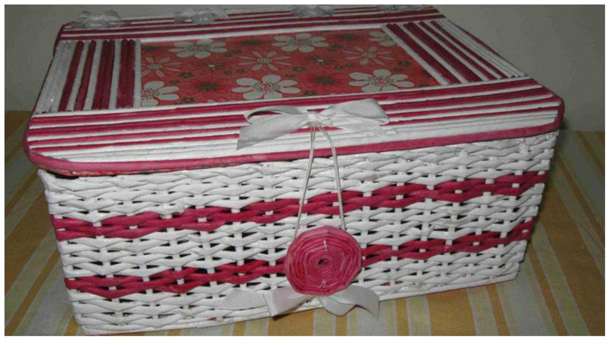 Коробка из газетных трубочек своими руками мастер класс 1