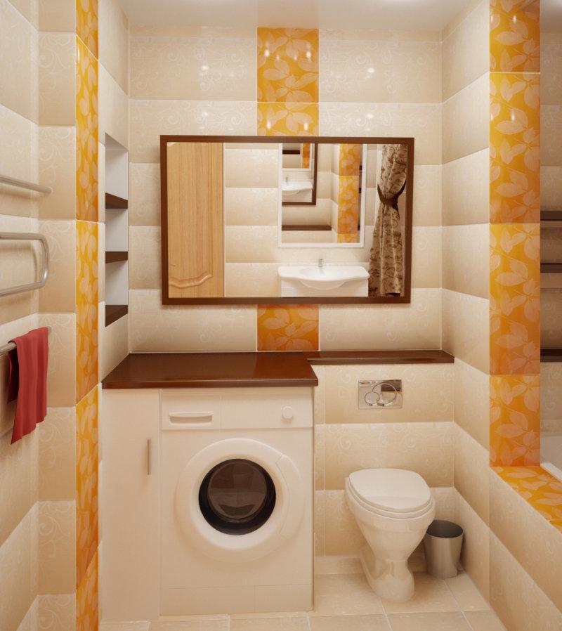 Дизайн маленькой ванной комнаты совмещенной с туалетом 6 кв м