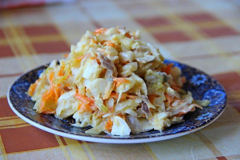 Салат из печени минтая рецепт