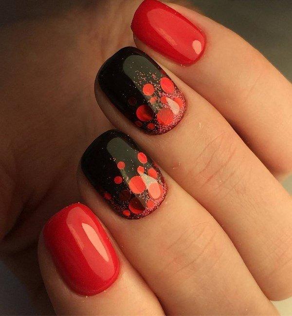 Красный маникюр дизайн на короткие ногти дизайн 2017-2018