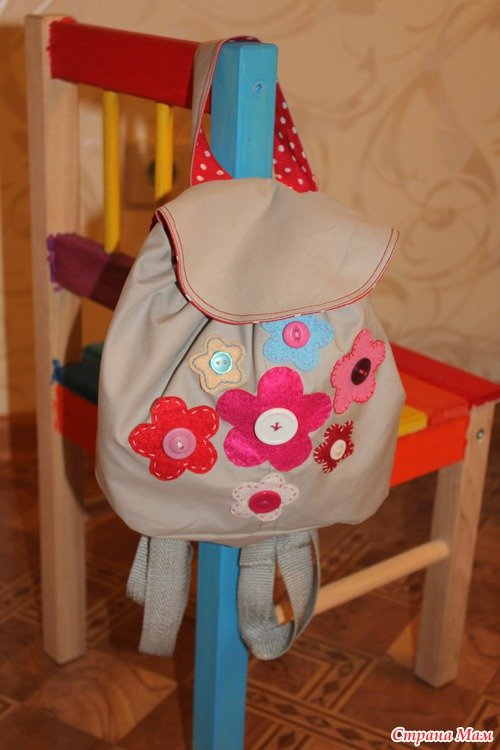 Сшить рюкзак для ребёнка 16