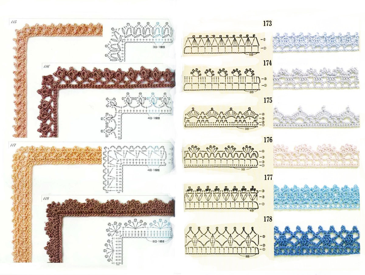 Вязания крючком схемы тесьмы 99