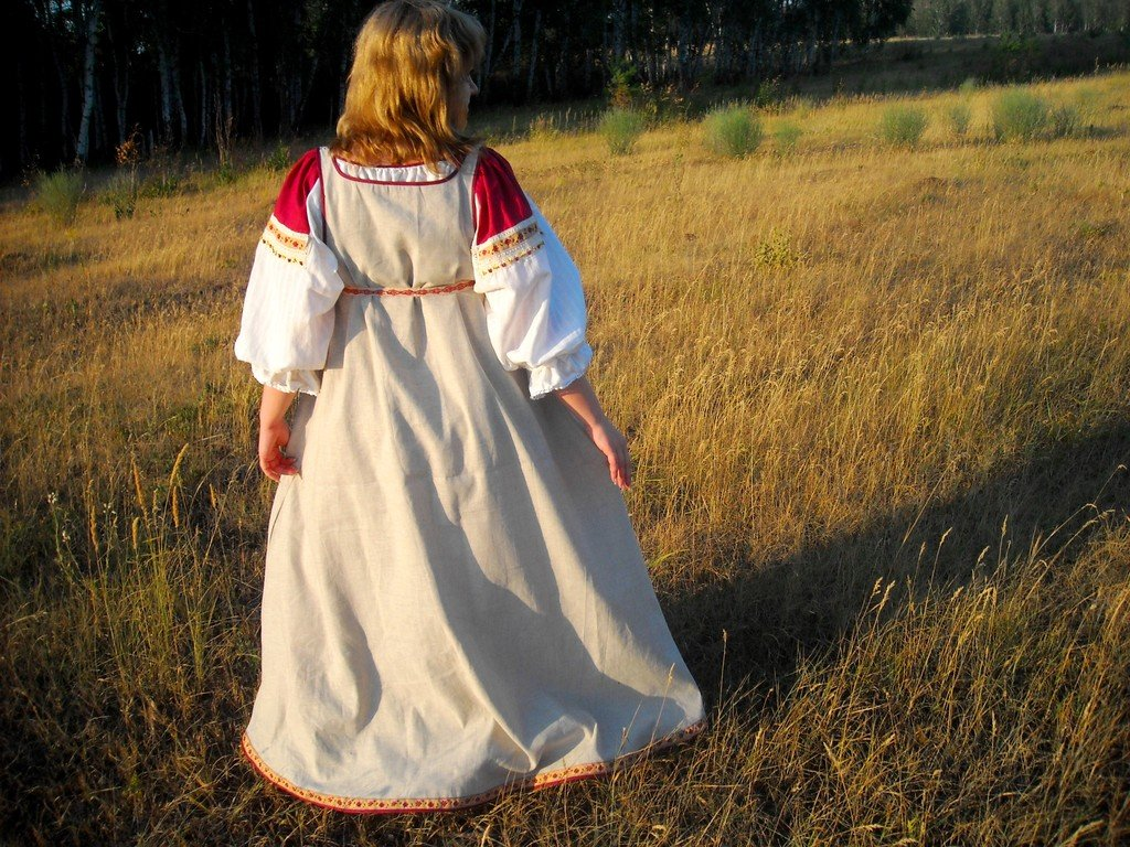 Женская славянская рубаха своими руками 68