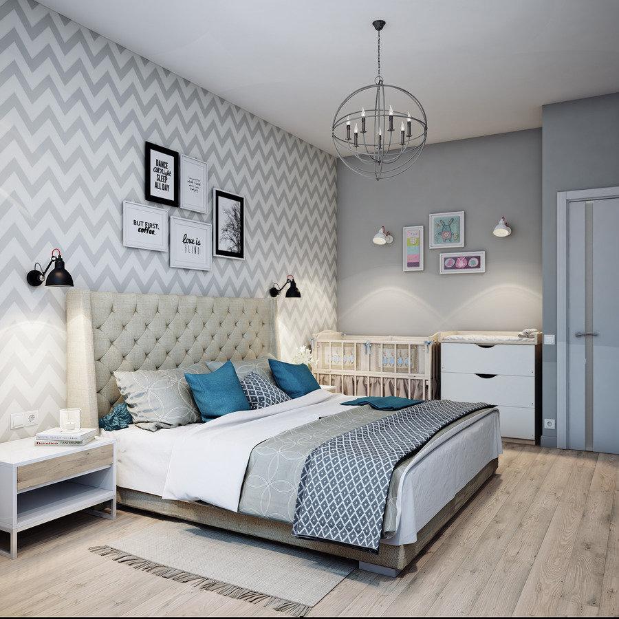Интерьер спальни в скандинавском стиле фото