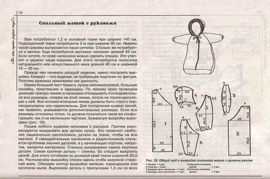 Как сшить спальный мешок для новорожденного без рукавов 765