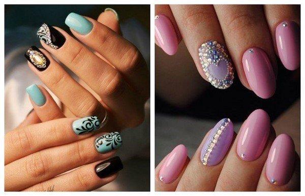 Дизайн ногтей со стразами новинки 2017-2018 весна