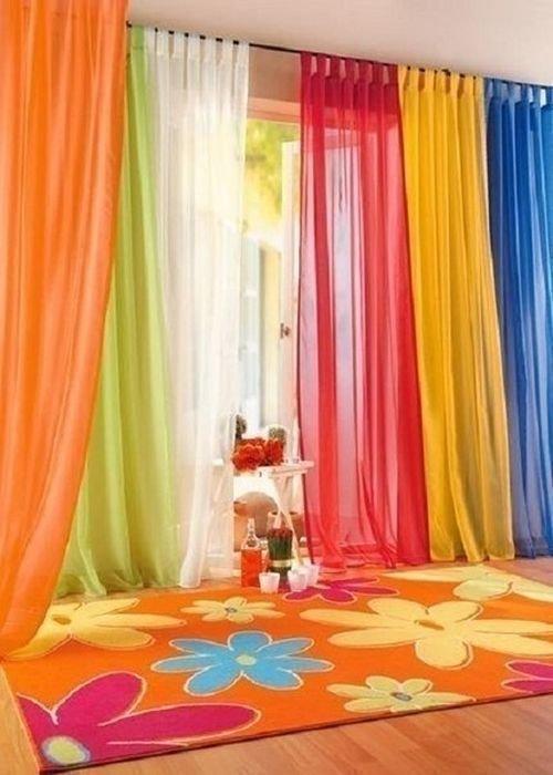 Как сшить шторы из вуали трёх цветов 59