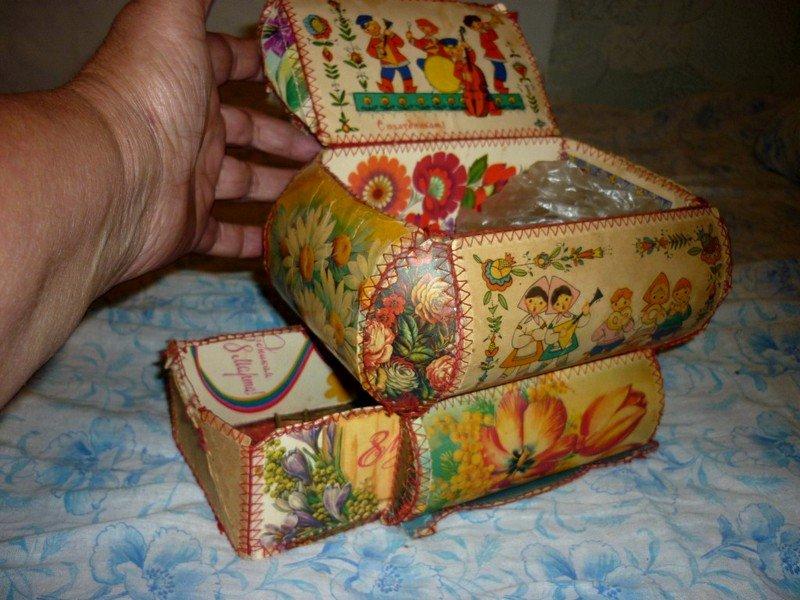 Сделать шкатулка из открыток своими руками