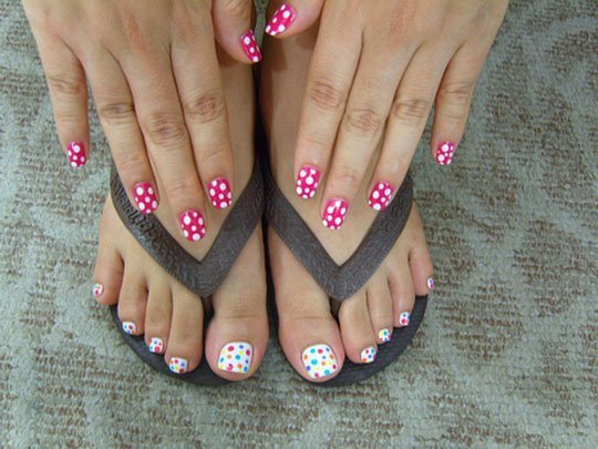 Смотреть дизайн ногтей для ног