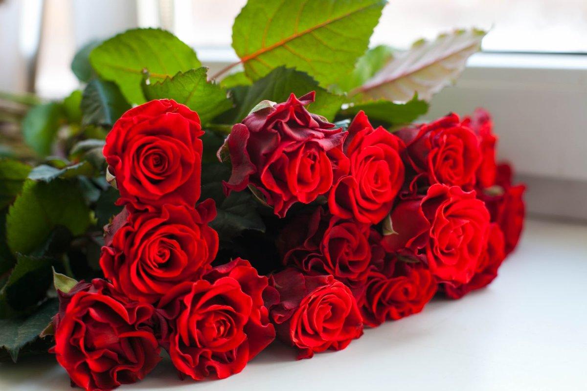 Открытка с розами букет 197