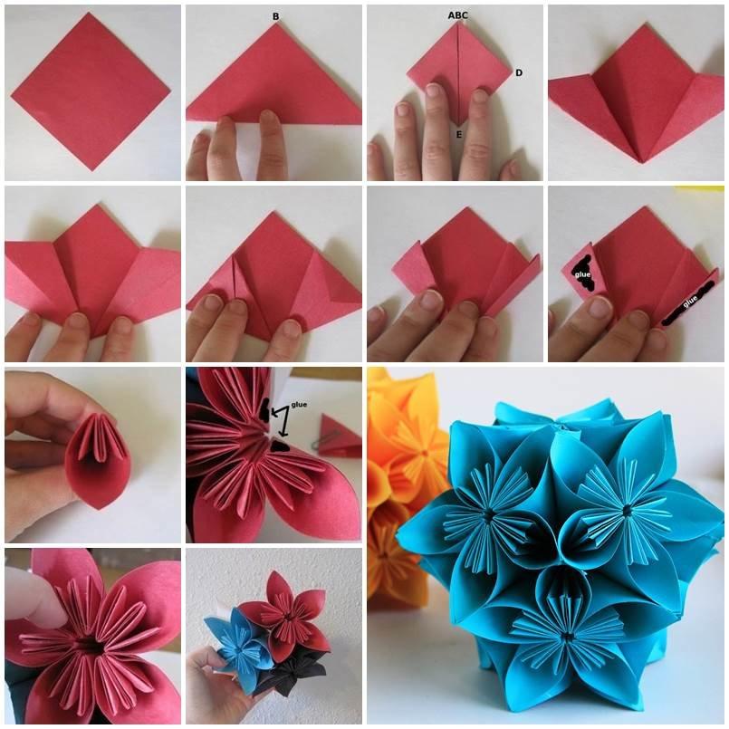 Оригами из бумаги цветы фото