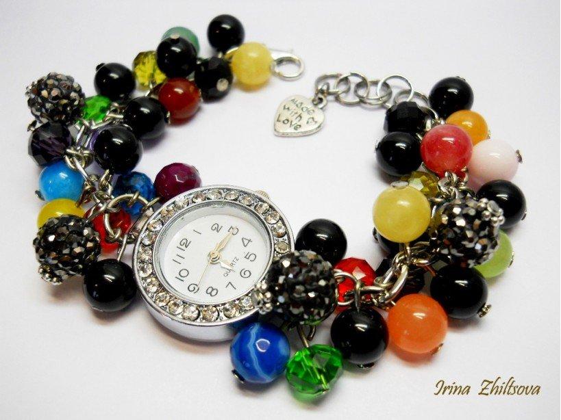 Как сделать часы с камнями 791