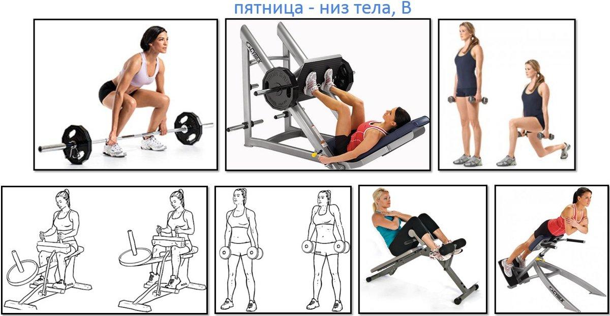 Как похудеть в зале девушке программа