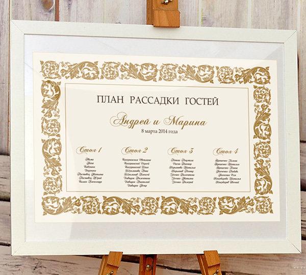 План для рассадки гостей свадьба своими руками