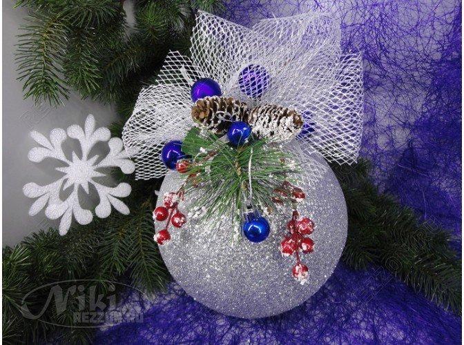 Как украсить новогодний шар своими руками фото